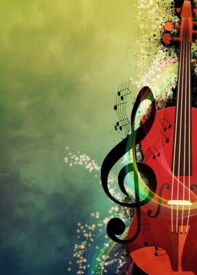 Canvas print Music background