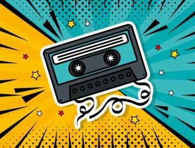 Canvas print music cassette pop art style vector illustration design