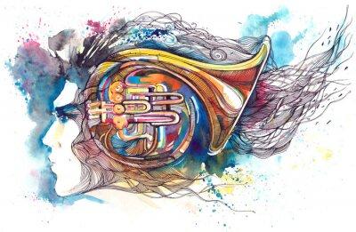 Canvas print musician