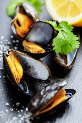 Canvas print Mussels