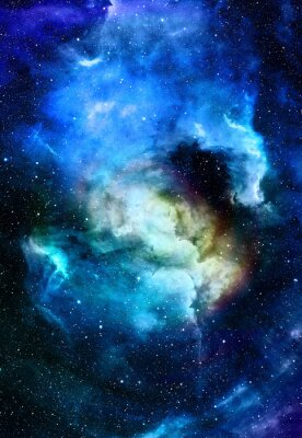 Canvas print Nebula, Cosmic space and stars, blue cosmic abstract background. Elements of this image furnished by NASA.