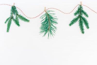 New Year or Christmas handicraft fir tree garland