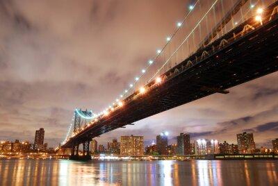 Canvas print New York City Manhattan Bridge
