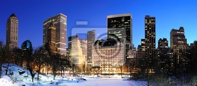 Canvas print New York City Manhattan Central Park panorama in winter