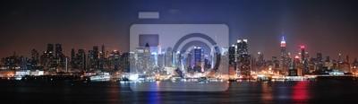 Canvas print New York City Manhattan midtown skyline