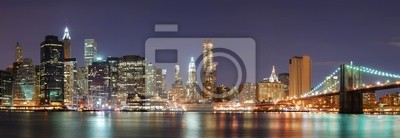 Canvas print New York City Manhattan skyline