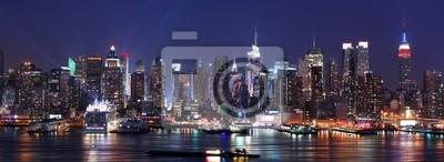 Canvas print New York City Manhattan skyline panorama