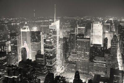 Canvas print New York City Manhattan Times Square skyline aerial view panoram