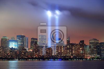 Canvas print New York City night