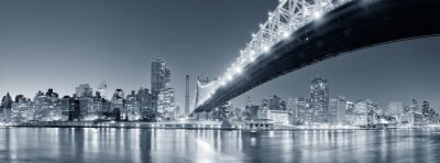 Canvas print NEW YORK CITY NIGHT PANORAMA