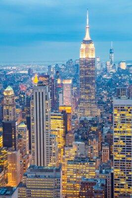 Canvas print New York City skyline dusk USA