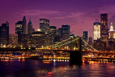 Canvas print New-York pont de Brooklyn