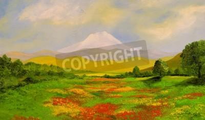 Nice original landscape oil painting On Wood