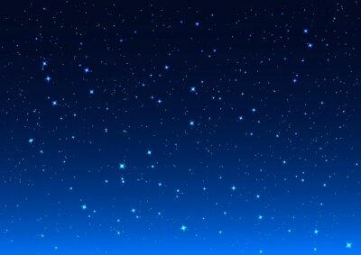 Canvas print Night sky. Stars in night sky