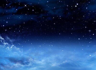 Canvas print Night sky with stars
