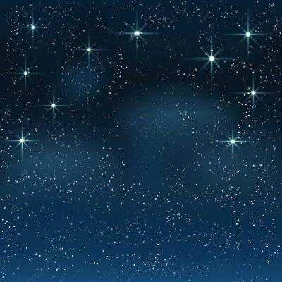 Canvas print Night starry sky