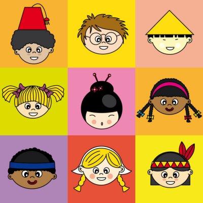 Canvas print Niños de diferentes etnias