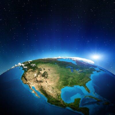 Canvas print North America