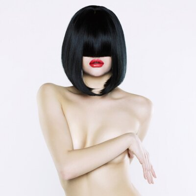 Canvas print Nude woman with short hairstyle
