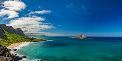 Canvas print oahu east coast view landscape