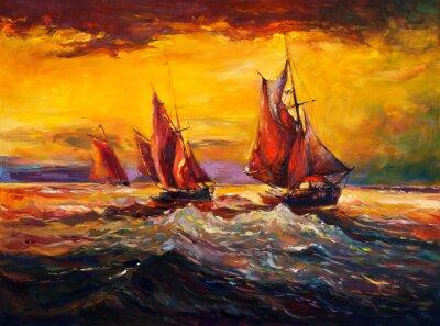 Canvas print Ocean and ship