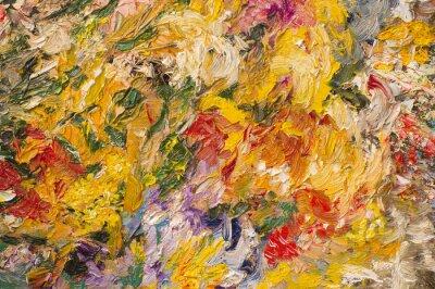 Canvas print Oil painting background. Art concept.