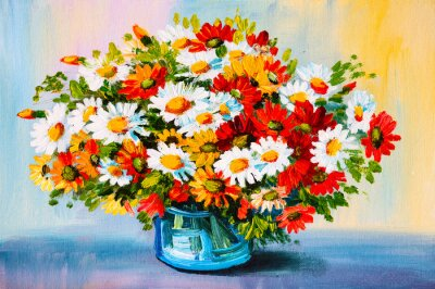 Canvas print Oil Painting - still life, a bouquet of flowers