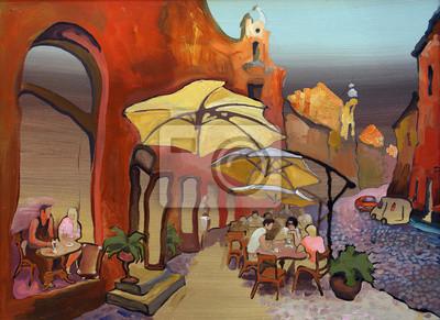 Canvas print oil paints picture