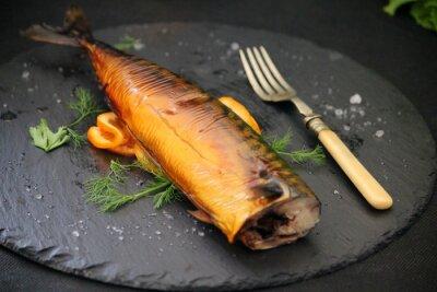 Canvas print oily fish