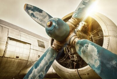 Canvas print old airplane