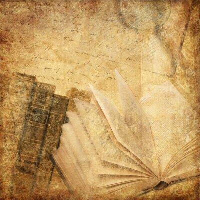 Canvas print old books