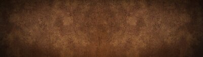 Canvas print old brown rustic leather - background banner panorama long
