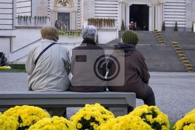old ladies sitting