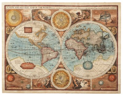 Canvas print Old map (1626)
