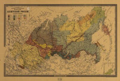 Canvas print Old map