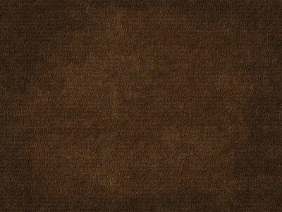 Canvas print Old rough paper sheet. Dark brown paper texture background.