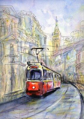 Canvas print Old tram