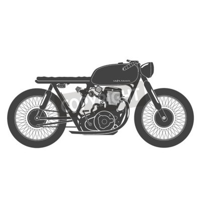 Canvas print Old vintage motorcycle. cafe racer theme.