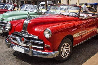 Canvas print Oldtimer im Zentrum von Havanna