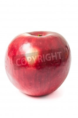 One autumn jonathan red apple isolated on white background