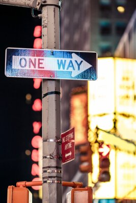 Canvas print One way New York traffic sign