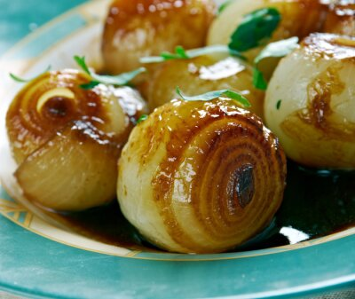 Canvas print Onions in a Balsamic Vinegar
