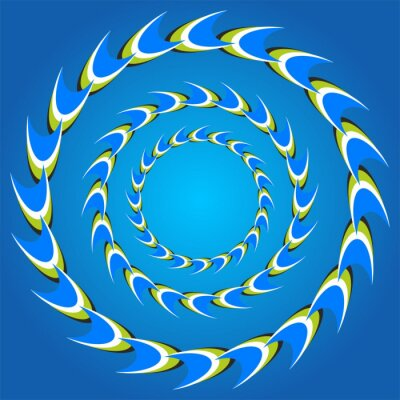 Canvas print optical illusion circle tails