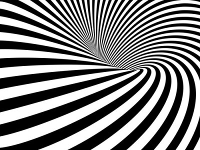 Canvas print Optical Illusion Wormhole