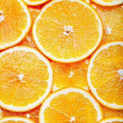 Canvas print Orange slices background