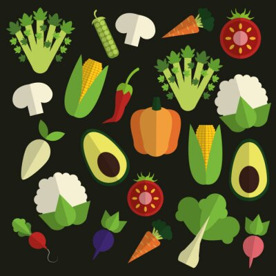 Canvas print Organic food design