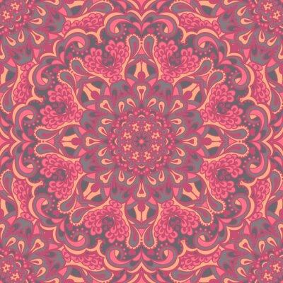 Canvas print Oriental ornate seamless pattern.