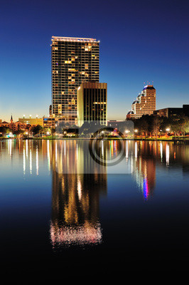 Canvas print Orlando at night