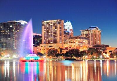 Canvas print Orlando at night