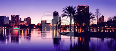 Canvas print Orlando silhouette